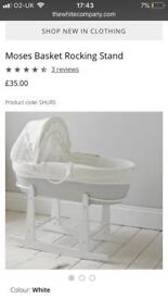 The White Company Moses Basket and Stand