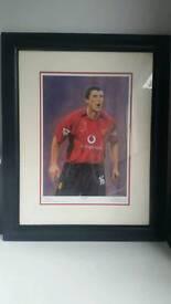 Manchester United framed picture Roy Keane 'Keano' Man Utd