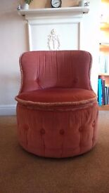 Vintage-style pink armchair