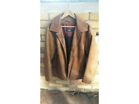 Mens Strellson Light Brown Leather Jacket 42 Medium