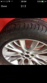 "Genuine jaguar 18"" alloys with Pirelli tyres"