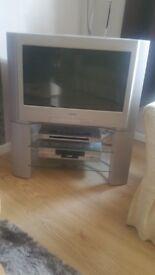 Sony digital trinitron TV + Sonya video recorder + Sony DVD player