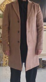 River Island mens coat camel colour size M like new