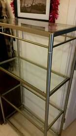 Like new !! Glass and metal unit