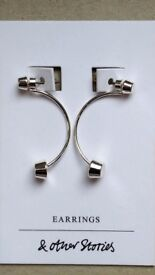 "Modern silver dangly earrings from ""& Other Stories"" brand. Never worn."