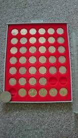 Collection of rare £2 coins and collection of 50 pences