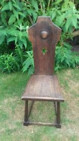 Quirky wooden prayer chair