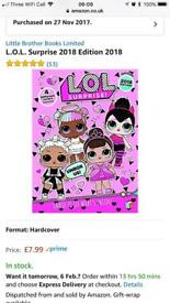 BRAND NEW LOL DOLL ANNUAL 2018. IN WRAPPER