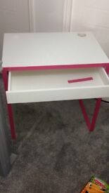 Pink & white girls idea desk