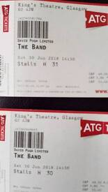 The Band theatre tickets x2