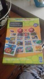 Learn+Fun Times Tables Numbers Bingo