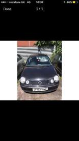 Volkswagen polo 1.2 petrol 5 doors hatchback 5 seater family car 03 plate