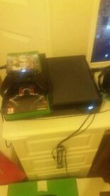 Xbox one console with 2 games