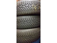 Winter weather car tires