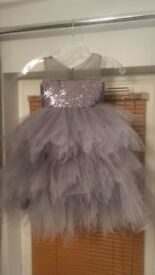 flowergirl/party dress and shoes