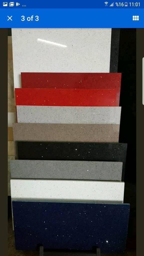 Quartz tiles are in the stock