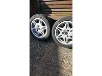 Two Smart Car Alluminium Rear wheels and tyres