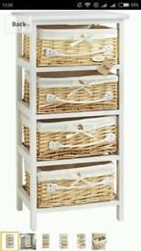 Bathroom or bedroom basket storage