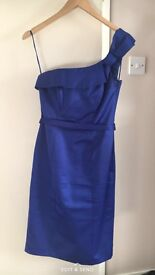 Blue Debut One Shouldered Dress