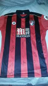 Afc bournemouth home 2016-2017 signed shirt