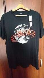 2x Mens Diesel T Shirts in Black size XL