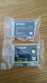 2x Epson ink cartridges new