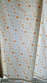 Mothercare lion jungle print nursery curtains and matching fitted cot sheet