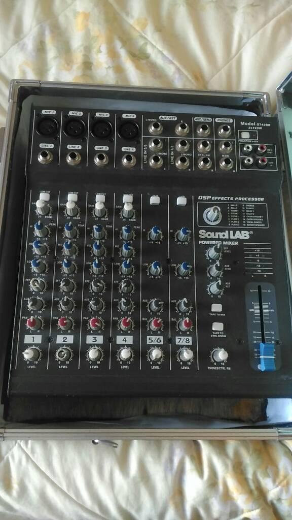 Sound lab powered mixer
