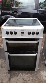 BEKO DOUBLE OVEN CERAMIC ELECTRIC COOKER IN GOOD CONDITION & WORKING ORDER