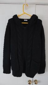 LADIES WOMENS COTTON TRADERS Navy Blue HOODED TOP JACKET SIZE 18/20