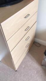 Chest of drawers & bedside drawer