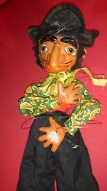 Vintage wooden jointed marionettes- ?Pelham puppet (unboxed)