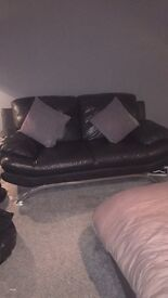 Leather couch readvertised due to time wasters