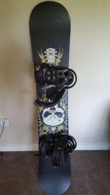 Atomic Hatchet Snowboard 156 And Burton Cartel Bindings