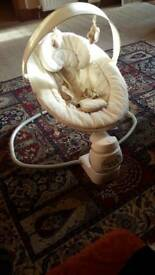 Electric baby swing/bouncer chair