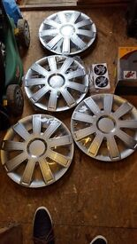 Brand New 15inch Wheel Trims with Peugoet Stickers