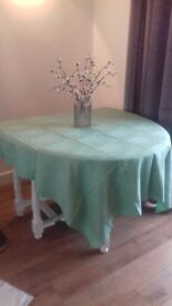 17 Green floral table cloths freshly laundered like new
