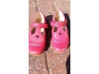 Girls red Clark's shoes size 8g