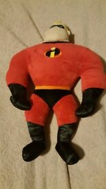 Disney story Mr Incredible large talking soft plush toy 16""