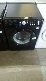 BLACK INDESIT 8KG 1400 SPIN WASHING MACHINE WITH 3 MONTHS GUARANTEE