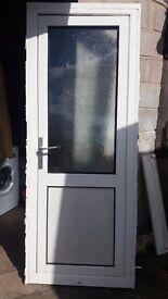 White Pvc external kitchen door in good condition