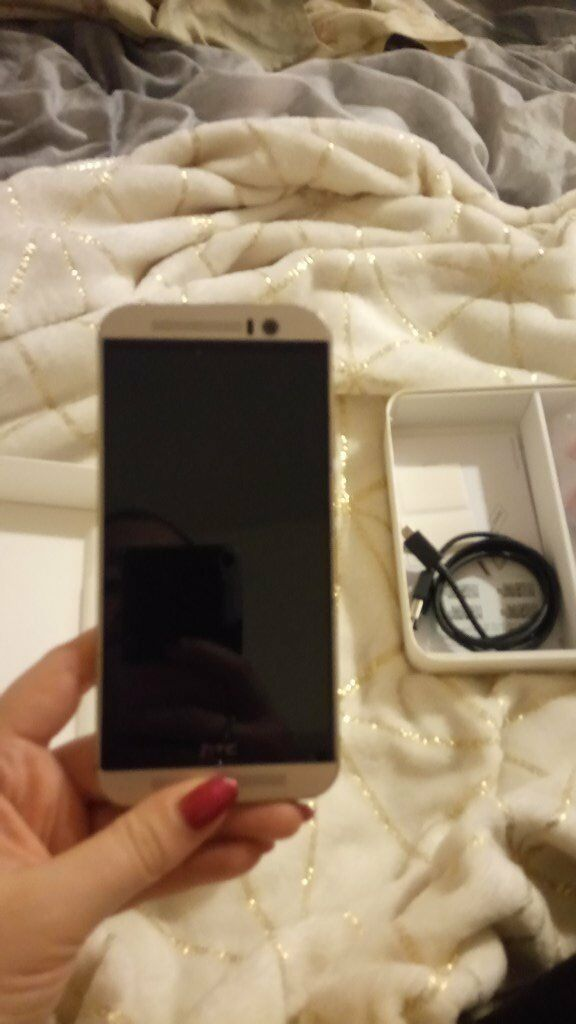 HTC One M9 Gold on Silver Good Conditionin Southampton, HampshireGumtree - This HTC was a contract phone and I have now upgraded (but still with HTC!). It comes with box, charger and brand new headphones (never used)