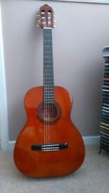 Classical/nylon strung guitar and gig bag