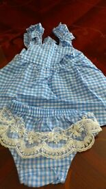 Two piece baby girl summer outfit, brand new, size 0 - 6 months.