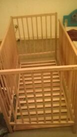 Pine baby cot, no mattress £30