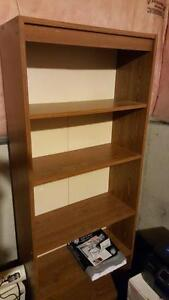 5ft tall Brown Wooden Shelving Unit