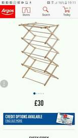 Clothes Airer dolly. Retails at £30 argos. Beech wood