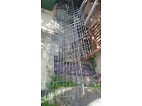 Free to collector Galvenised steel rack shelving x3