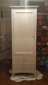 Marks and Spencer single wardrobe with 2 drawers off white ivory colour