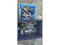 2 boxes full of tools sockets spanners drivers etc
